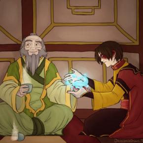 Zuko Heals Iroh (Switched Powers, Illustration 1)
